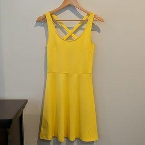 H&M yellow criss cross back mini